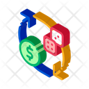 Dice Exchange Money Icon
