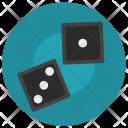 Dice Gamble Game Icon