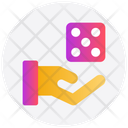 Dice Hand Gambling Icon