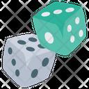 Dice Gambling Board Game Icon