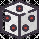 Dice Cube Toy Icon