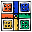 Dice Board Game Indoor Game Icon