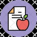 Diet Chart Apple Icon