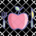 Diet Apple Fruit Icon
