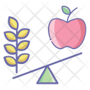 Book Apple Fruit Icon