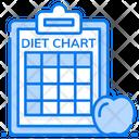 Diet Chart Diet Plan Patient Card Icon