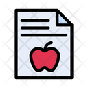 Medical Report Diet Icon