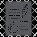 Diet Plan Health Icon