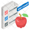 Diet Plan Food Chart Diet Chart Icon