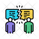 Antithetical Different Opinions Icon
