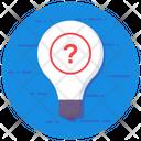 Difficulty Interrogative Bulb Idea Questioning Icon