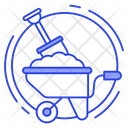 Construction Tools Digging Wheelbarrow Icon