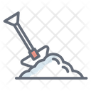 Digging Trowel Hand Tool Icon