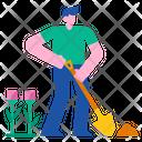 Digging Shovel Work Icon