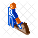 Worker Digging Construction Icon