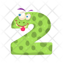 Digit Two Monster Icon