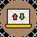 Digital Notebook Arrows Icon