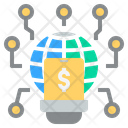 Digital Online Idea Icon
