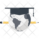 Digital Learning Earth Icon