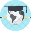 Digital Elearning Earth Icon