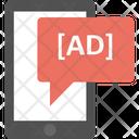 Digital Advertising Mobile Advertisement Mobile Marketing Icon