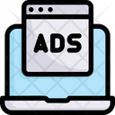 Online Shopping Digital Advertising Promotion Icon