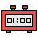 Digital Alarm Clock Digital Clock Time And Date Icon