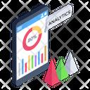 Online Analytics Digital Analytics Mobile Statistics Icon