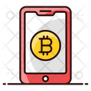 Digital Banking Online Cryptocurrency Bitcoin Blockchain Icon