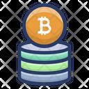 Digital Bitcoin Savings Icon