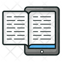 Mobile Book Digital Book E Learning Icon