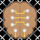 Digital Brain Electronic Brain Digital Processor Icon