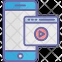 Digital Cinema Filmmaking Mobile Video Icon