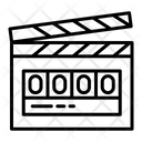 Digital Clapperboard Clapperboard Clapper Icon