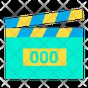 Digital Clapperboard Clapper Icon