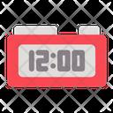 Digital Clock New Year Celebration Icon