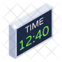 Digital Clock Electronic Timepiece Digital Time Icon