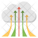 Digital Cloud Uploading Icon