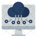 Digital Computing Technologies Cloud Technology Digital Economy Icon
