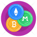 Virtual Currencies Digital Currencies Cryptocurrencies Icon