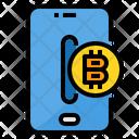 Bitcoin Smartphone Blockchain Icon