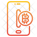 Bitcoin Smartphone Blockchain Icon