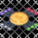 Digital Money Digital Currency Digital Dollar Icon