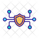Digital Cyber Protection Icon
