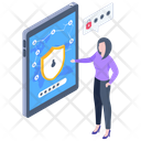 Phone Password Phone Passcode Digital Data Protection Icon
