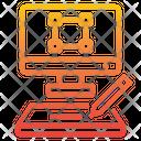 Graphic Designer Computer Monitor Icon