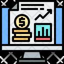 Digital Economy Online Economy Analysis Icon