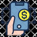 Hand Phone Money Icon