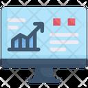Digital Growth Computer Data Analytics Icon
