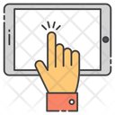 Digital Interaction Finger Touch Pointer Icon